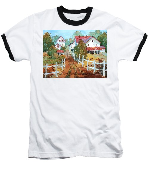 Amish Farm Baseball T-Shirt