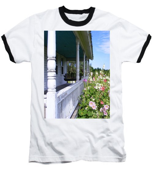 Amish Porch Baseball T-Shirt