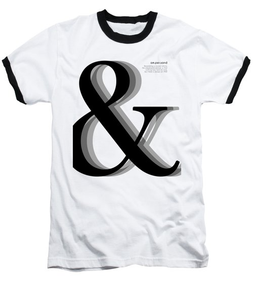 Ampersand - And Symbol - Minimalist Print Baseball T-Shirt