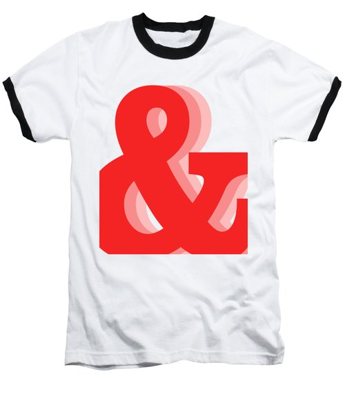 Ampersand - Red - And Symbol - Minimalist Print Baseball T-Shirt