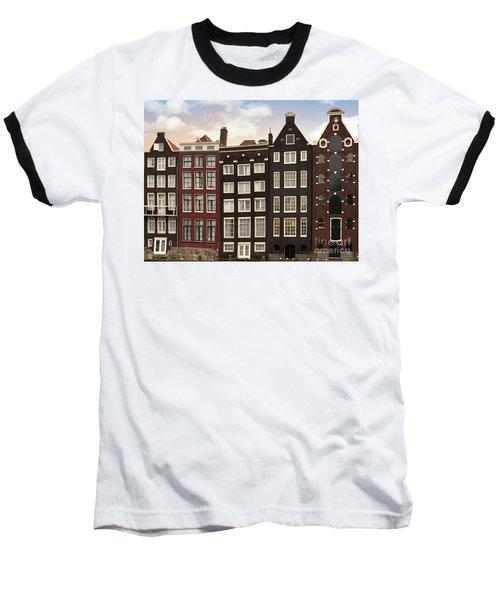 Amsterdam Architectre At Twilight Baseball T-Shirt