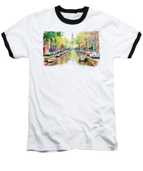 Amsterdam Canal 2 Baseball T-Shirt