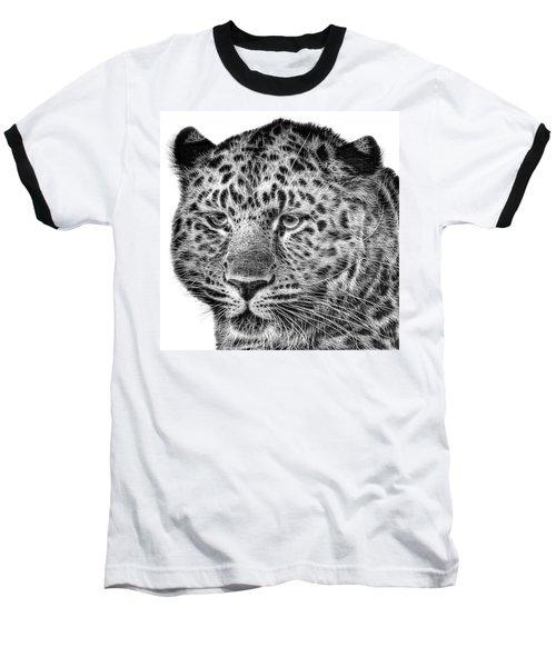 Amur Leopard Baseball T-Shirt by John Edwards