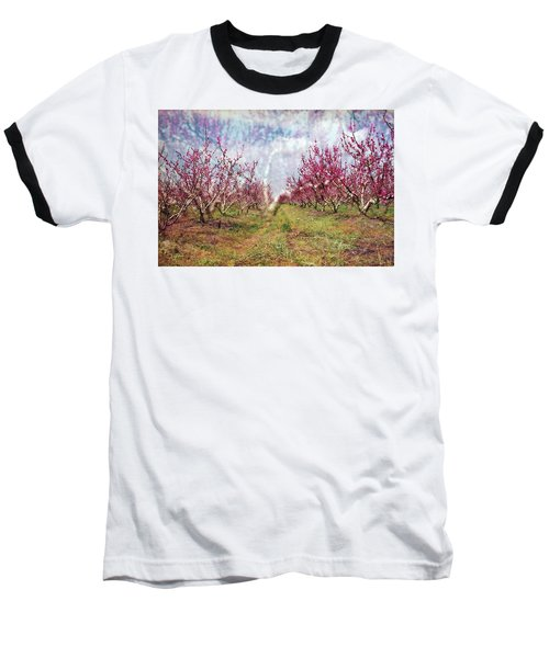 An Orchard In Blossom In The Golan Heights Baseball T-Shirt