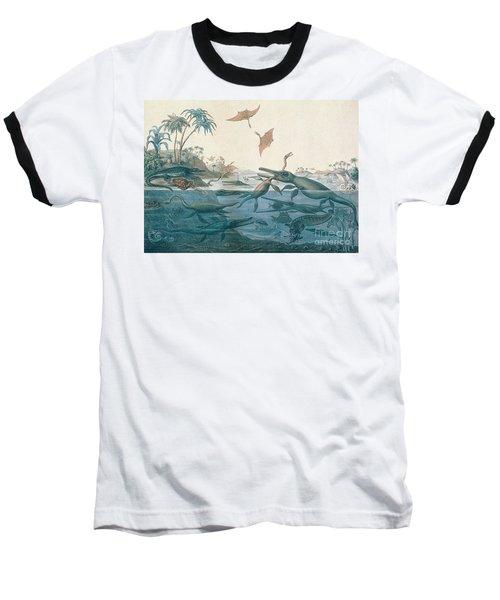 Ancient Dorset Baseball T-Shirt by Henry Thomas De La Beche