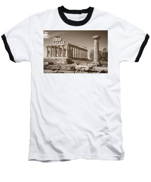 Ancient Paestum Architecture Baseball T-Shirt