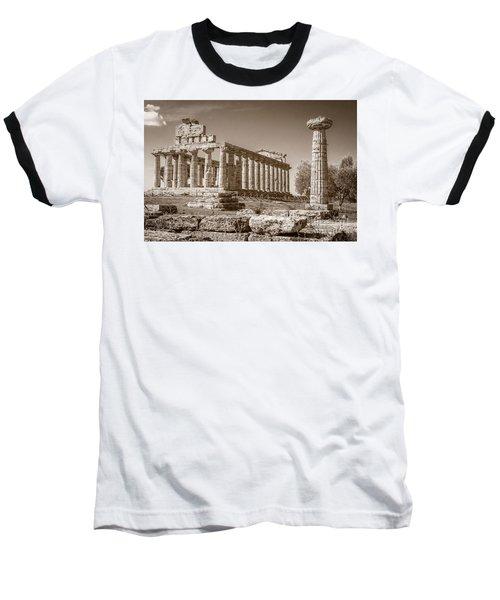 Ancient Paestum Architecture Baseball T-Shirt