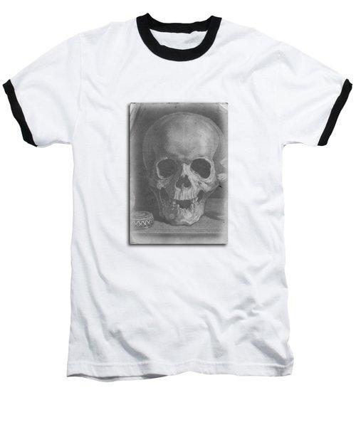 Ancient Skull Tee Baseball T-Shirt by Edward Fielding
