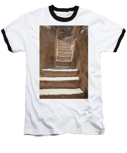 Ancient Stairs Baseball T-Shirt by Yoel Koskas