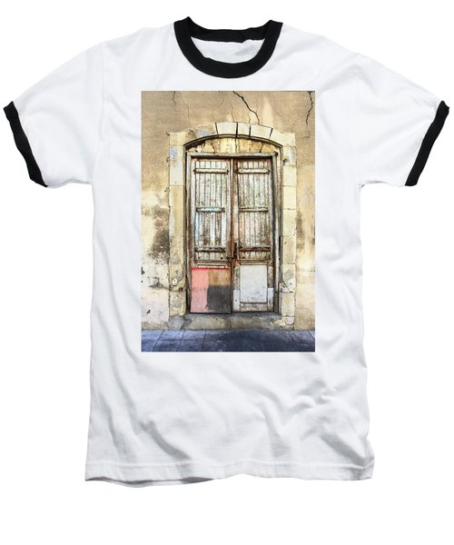 Ancient Wooden Door In Old Town. Limassol. Cyprus Baseball T-Shirt