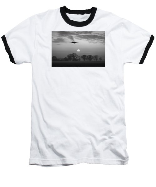 And Finally Black And White Version Baseball T-Shirt