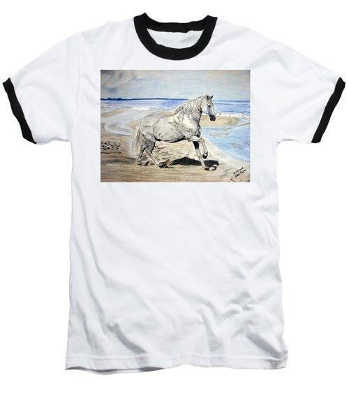 Andalusian Horse Baseball T-Shirt by Melita Safran