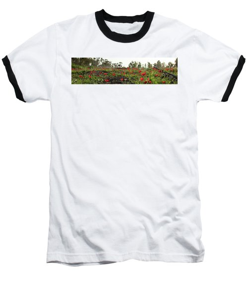 Baseball T-Shirt featuring the photograph Anemones Forest Panorama by Yoel Koskas