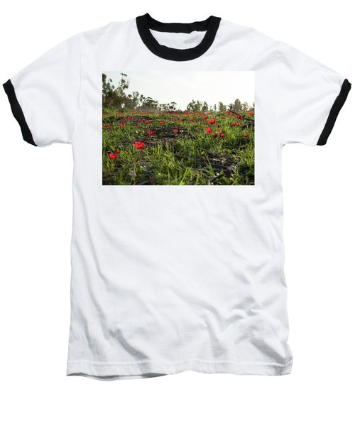 Baseball T-Shirt featuring the photograph Anemones Forest by Yoel Koskas