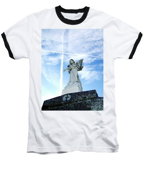 Angel And Crosses Baseball T-Shirt