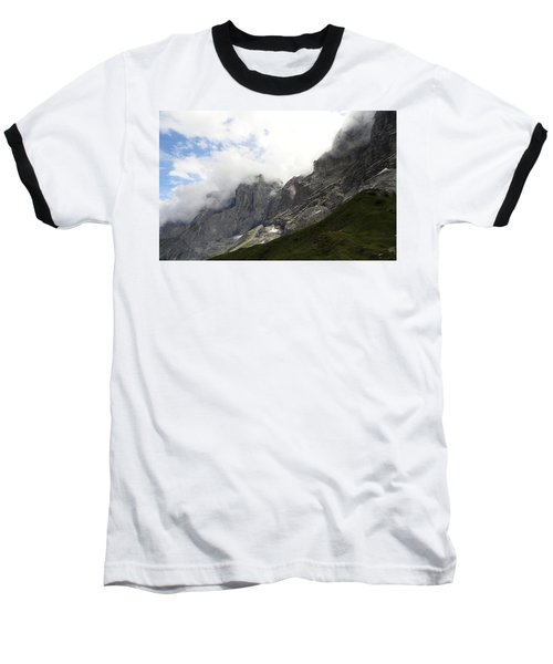 Angel Horns In The Clouds Baseball T-Shirt by Ernst Dittmar