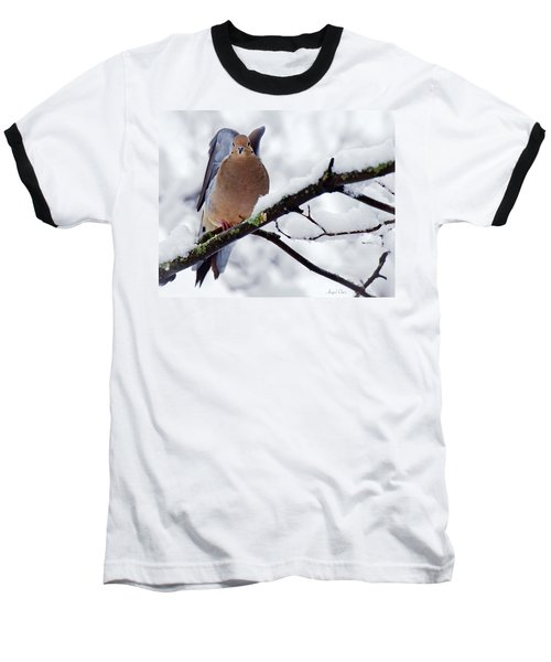Baseball T-Shirt featuring the photograph Angel Mourning Dove by Angel Cher