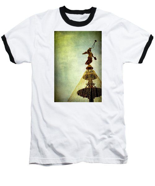 Angel On The Fountain Baseball T-Shirt