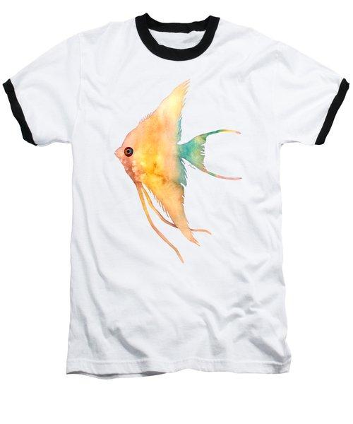 Angelfish II - Solid Background Baseball T-Shirt