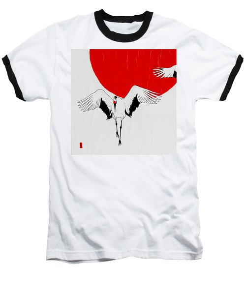 Angelic Crane Baseball T-Shirt