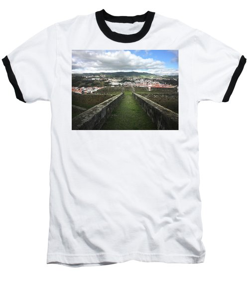Angra Do Heroismo From The Fortress Of Sao Joao Baptista Baseball T-Shirt