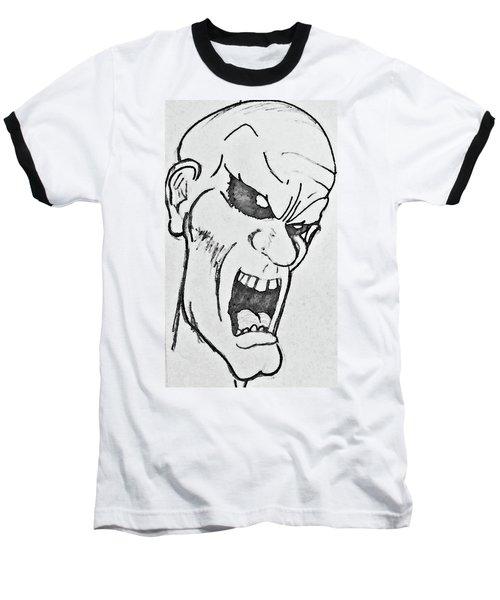 Angry Cartoon Zombie Baseball T-Shirt