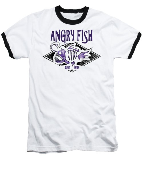 Angry Fish Baseball T-Shirt