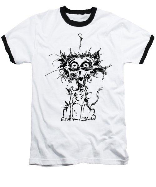 Angst Cat Baseball T-Shirt
