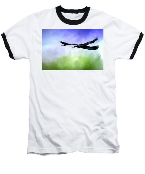 Anhinga In Flight Baseball T-Shirt