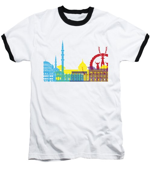 Ankara Skyline Pop Baseball T-Shirt