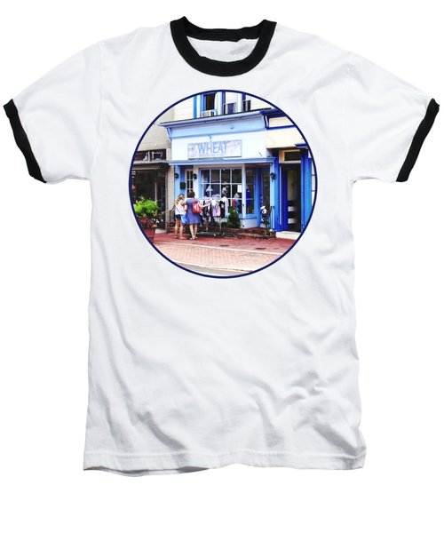 Annapolis Md - Shopping On Main Street Baseball T-Shirt