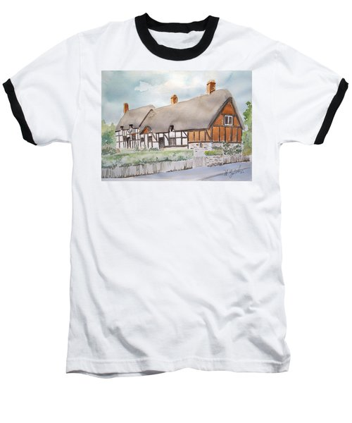 Anne Hathaway's Cottage Baseball T-Shirt by Marilyn Zalatan