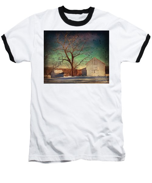Baseball T-Shirt featuring the photograph Another Winter Day  by Delona Seserman