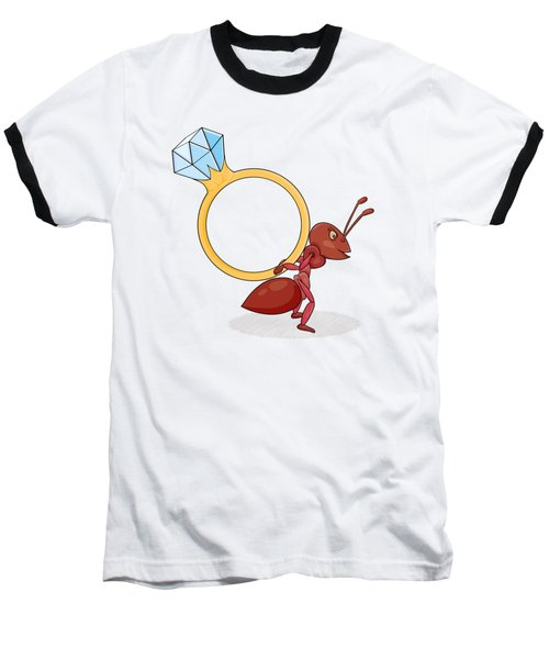 Ant With Big Ring Baseball T-Shirt