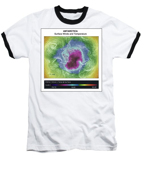 Antartica Surface Winds And Temps Baseball T-Shirt