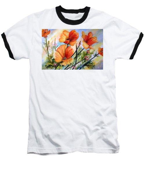 Antelope Valley Poppy Fields Baseball T-Shirt