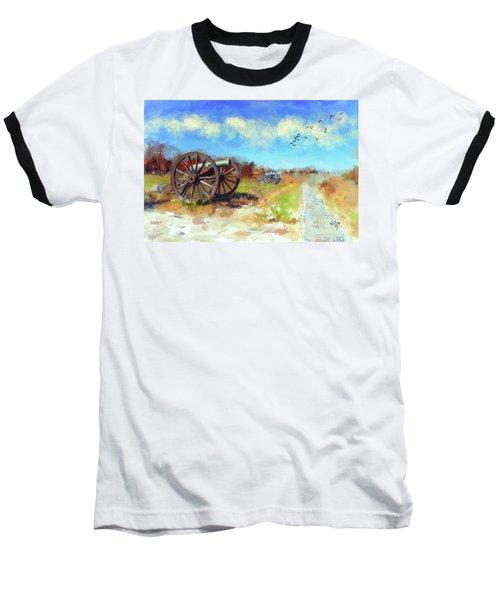 Baseball T-Shirt featuring the digital art Antietam Under Blue Skies  by Lois Bryan
