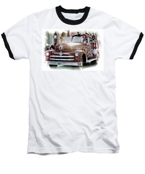 Antique Santa Cruz Fire Truck Baseball T-Shirt
