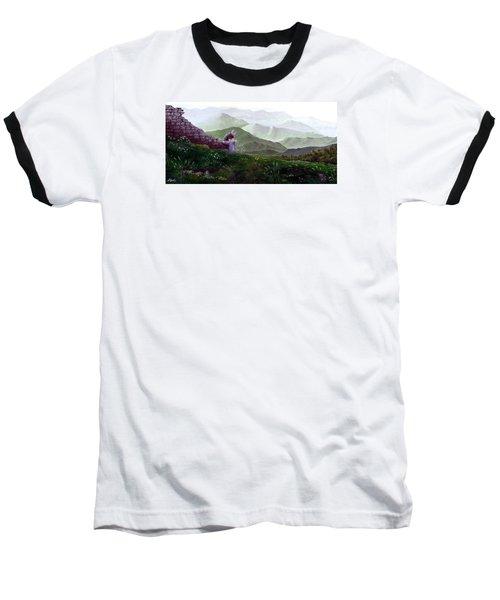 Antonio Atop La Rocca De Monte Calvo Baseball T-Shirt by Albert Puskaric