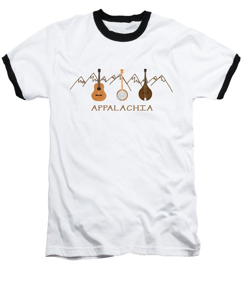 Baseball T-Shirt featuring the digital art Appalachia Mountain Music by Heather Applegate