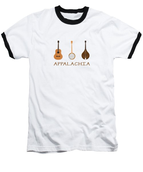 Baseball T-Shirt featuring the digital art Appalachia Music by Heather Applegate
