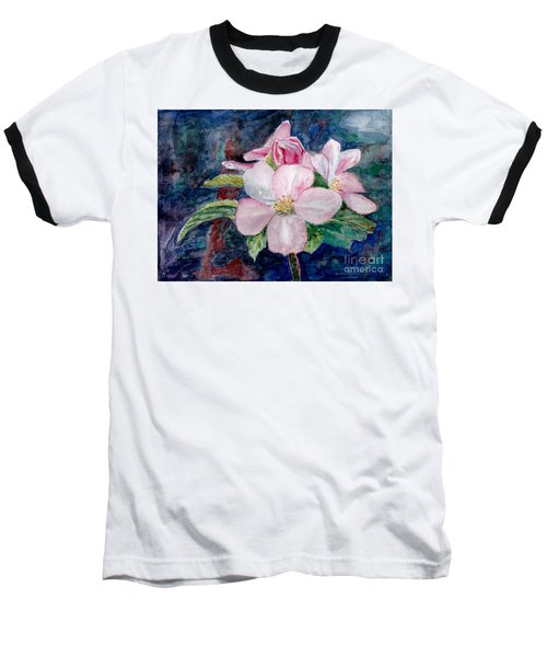 Apple Blossom - Painting Baseball T-Shirt by Veronica Rickard