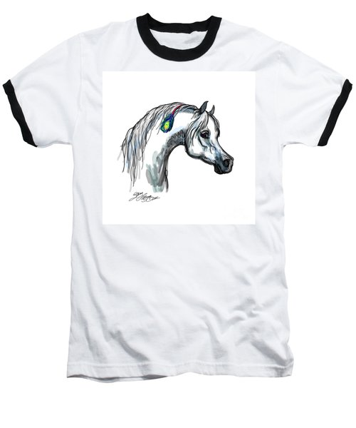 Arabian Peacock Feather Baseball T-Shirt