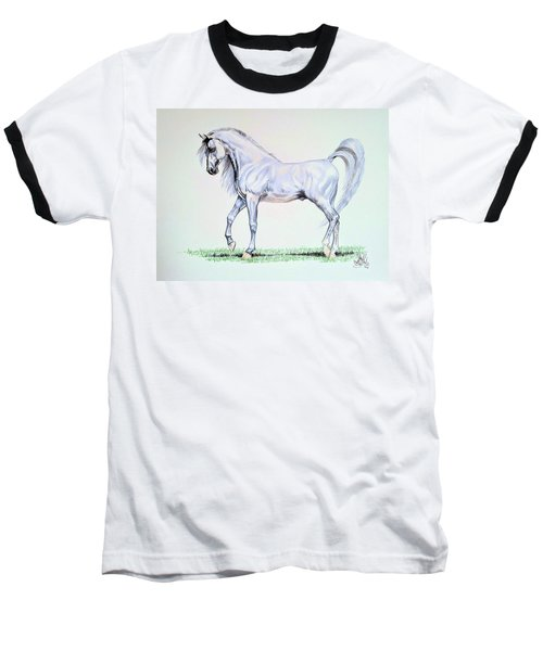 Arabian Stallion  Baseball T-Shirt by Cheryl Poland