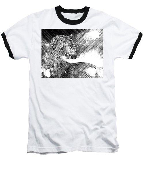 Arabian Sunrise Sketch Baseball T-Shirt