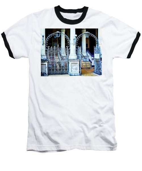 Arched Entrance In Mumbai Baseball T-Shirt by Marion McCristall