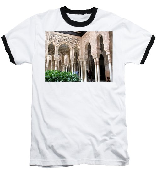 Arches And Columns Granada Baseball T-Shirt by Jacqi Elmslie