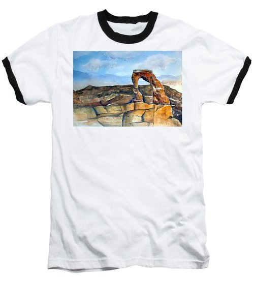 Arches National Park Baseball T-Shirt by Debbie Lewis