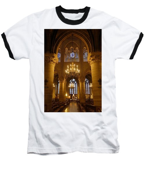 Architectural Artwork Within Notre Dame In Paris France Baseball T-Shirt