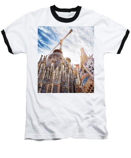 Architectural Details Of The Sagrada Familia In Barcelona Baseball T-Shirt